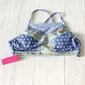 Xhilaration Square Neck High Neck Bikini Top